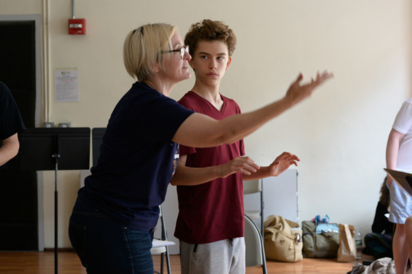 Photo Flash: First Look At Rehearsals For ROUND WENT THE WHEEL At Broadway Bound Theatre Festival
