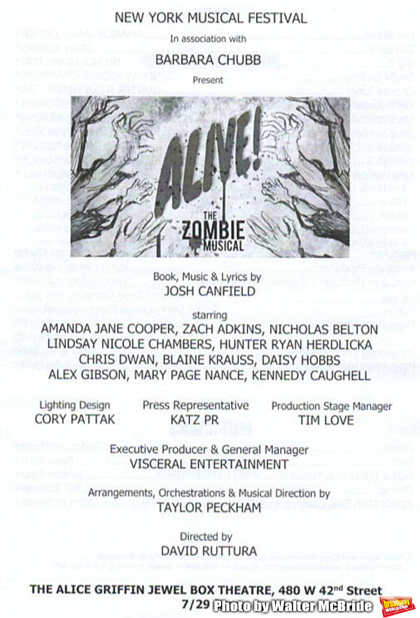 Photo Coverage: First Look at ALIVE! THE ZOMBIE MUSICAL in Concert at NYMF