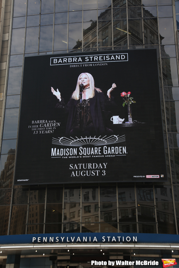 Up on the Marquee: Barbra Streisand Returns to Madison Square Garden