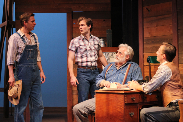 Benjamin Eakeley as Noah Curry, Isaac Hickox-Young as Jimmy Curry, Mark Elliot Wilson as H.C. Curry, and Corey Sorenson