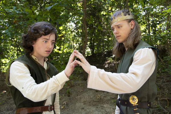Brayden Lawrence and Logan Beutel as Young Arthur and King Arthur    photo by Jason J Photo