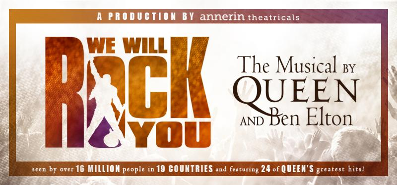 North American Tour Of Queen-Inspired Rock Musical WE WILL ROCK YOU Set To Launch September 3rd