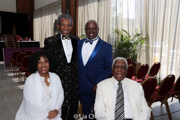 Elizabeth Van Dyke, Andre De Shields, Art Evans and Woodie King, Jr. Photo