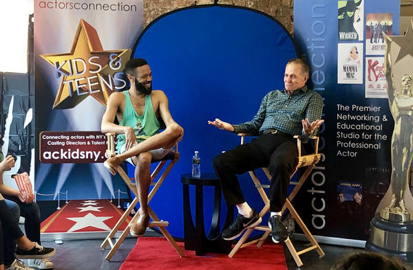 Broadway Stars Stephen Bradbury (HARRY POTTER On Broadway) and Jason Veasey (LION KING) speak with the young performers about their journey to Broadway during a camp Q&A at Actors Connection.