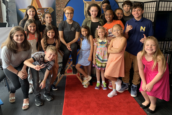 Kids & Teens are all smiles with special guest, Broadway Star Kim Exum at Actors Connection Performing Arts Camp.