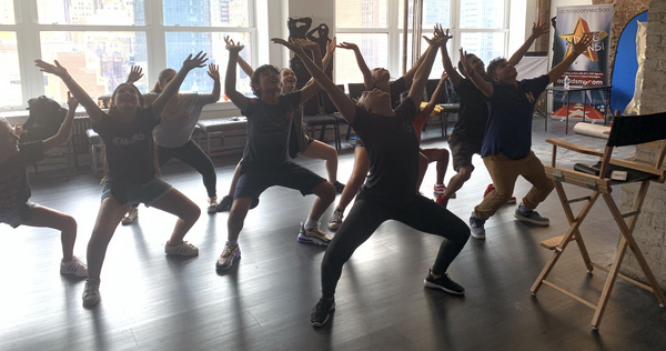 Broadway Star Kim Exum (BOOK OF MORMON) teaches Kids & Teens a dance combination at Actors Connection Performing Arts Camp.