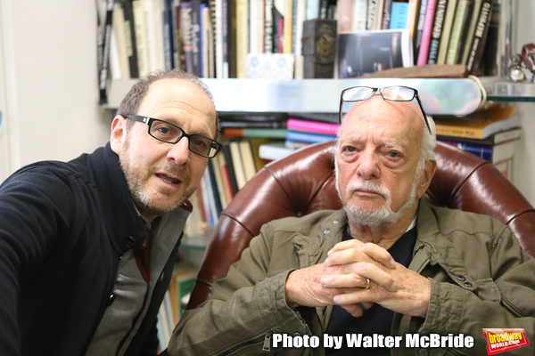 Lonny Price visits Hal Prince in his office on July 30, 2015 in New York City. Photo