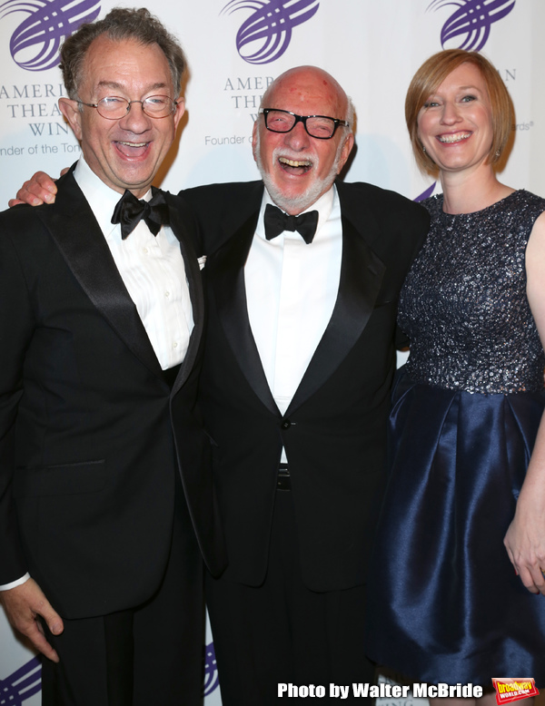 William Ivey Long, Hal Prince and Heather Hitchens attending the The 2013 American Th Photo