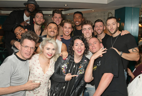 Curtis Pritchard (7L), AJ Pritchard (8L) and Channing Tatum (3R) pose with cast membe Photo