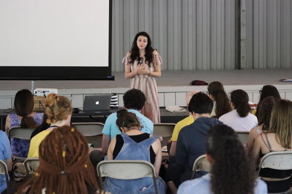 Photo Flash: UN Celebrity Youth Activist and International Recording Artist Meredith O'Connor Connects With Usdan Summer Camp for the Arts Campers