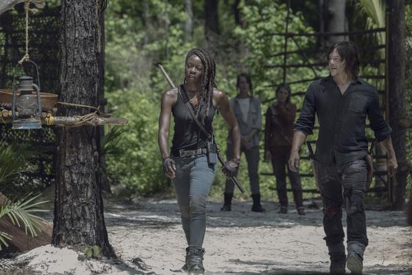 Danai Gurira as Michonne, Norman Reedus as Daryl Dixon  Photo