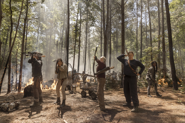 Norman Reedus as Daryl Dixon, Sydney Park as Cyndie, Danai Gurira as Michonne, Meliss Photo