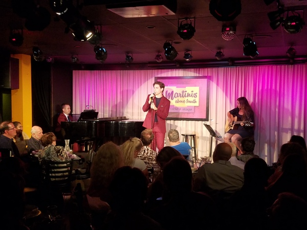 Photo Flash: Derek Klena Takes The Stage At Martinis Above Fourth