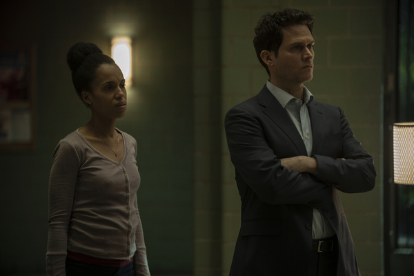 Kerry Washington and Steven Pasquale