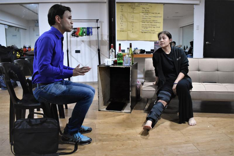 Photos: Randy Villarama, Jill Pena Rehearse DANCING LESSONS; Show Opens Tom., Aug. 16!