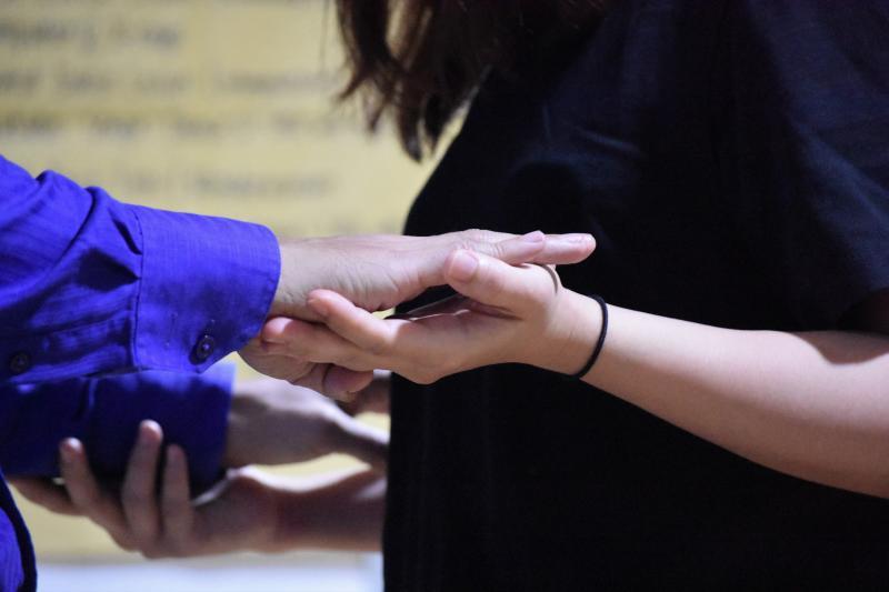 Photos: Randy Villarama, Jill Pena Rehearse DANCING LESSONS; Show Opens Tom., Aug. 16!