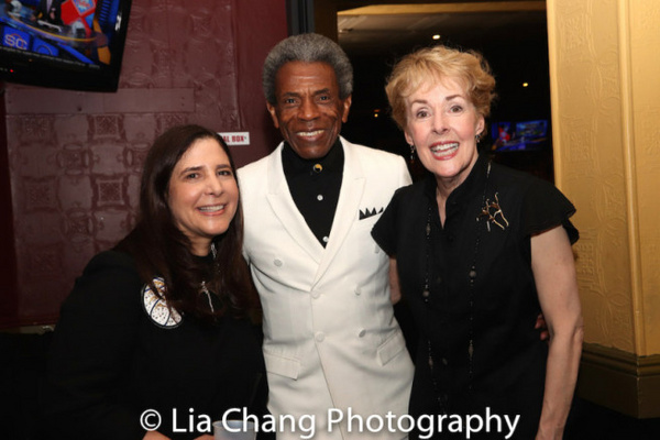 Dori Berinstein, Andre De Shields and Georgia Engel at the opening night party of HAL Photo