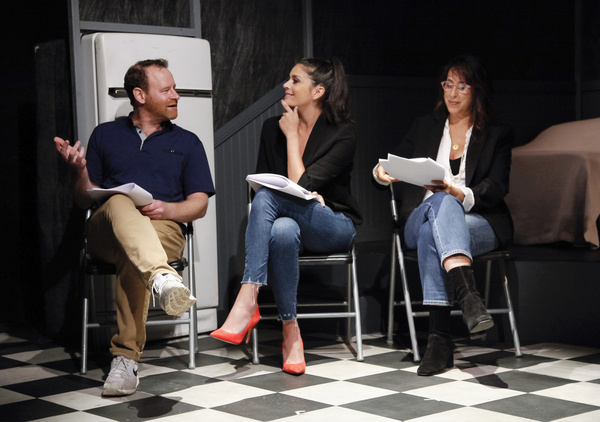 Larry Dorf, Cecily Strong, Maggie Wheeler Photo