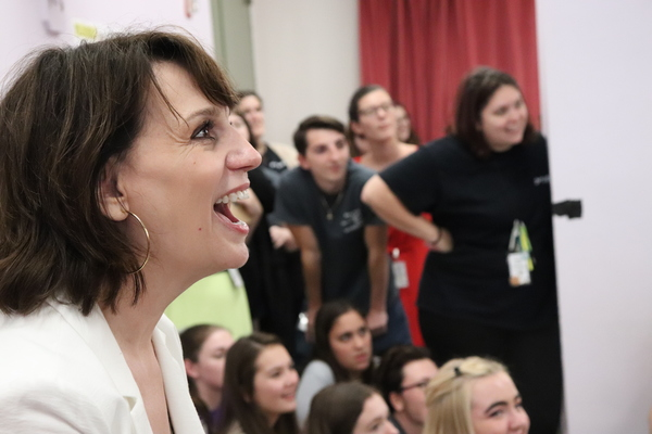 Beth Leavel and Students