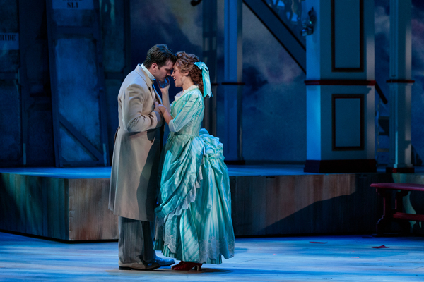"(From left) Michael Adams as Gaylord Ravenal and Lauren Snouffer as Magnolia Hawks in The Glimmerglass Festival's 2019 production of ""Show Boat."" Photo: Connor Lange/The Glimmerglass Festival"