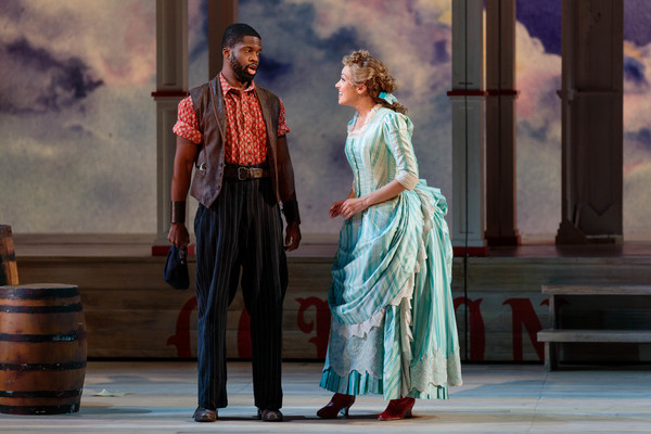 Justin Hopkins as Joe and Lauren Snouffer as Magnolia Hawks in The Glimmerglass Festi Photo