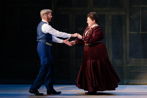 """Lara Teeter as Cap'n Andy and Klea Blackhurst as Parthy Ann Hawks in The Glimmerglass Festival's 2019 production of """"Show Boat."""" Photo Credit: Karli Cadel/The Glimmerglass Festival"""