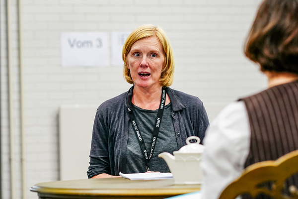 Photo Flash: Inside Rehearsal For New Vic Theatre's Production of Moira Buffini's HANDBAGGED