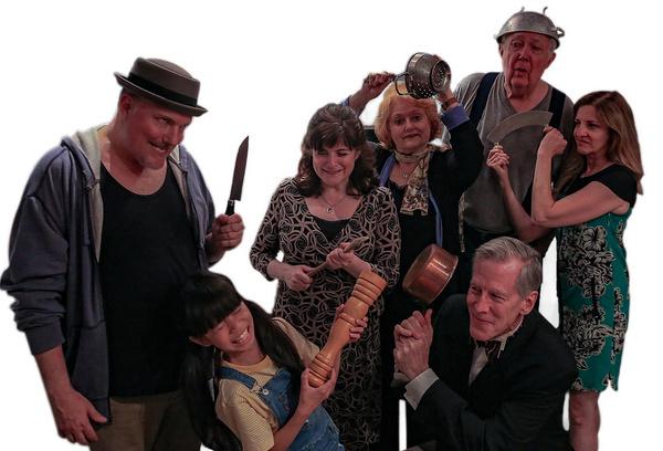Christopher Borg, Elizabeth A. Bell, Wynne Anders, Ryan HilIiard, Jamie Heinlein - bottom row Claudia Fabella and Steven Hauck.