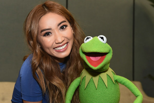 Brenda Song and Kermit the Frog