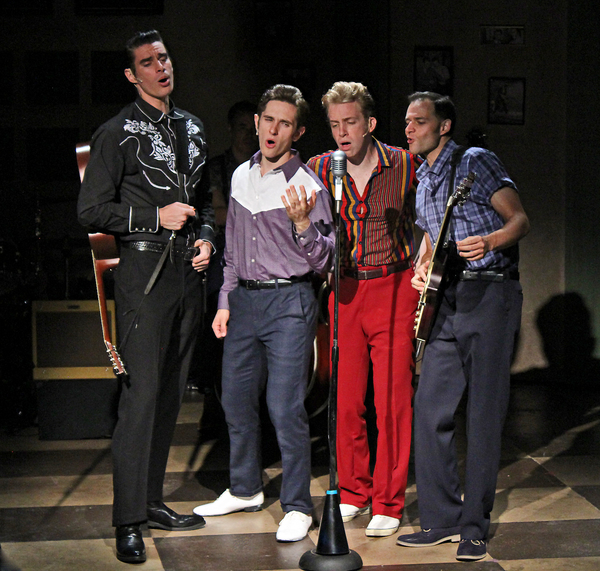 Colin Barkell as Johnny Cash, Noah Jermain as Elvis Presley, Gavin Rohrer as Jerry Le Photo