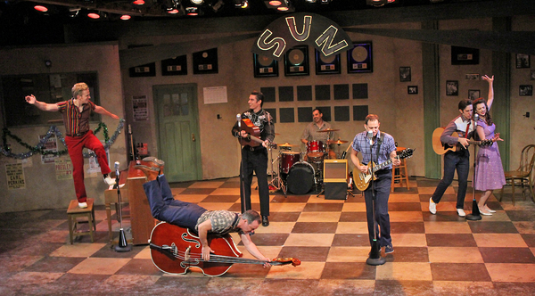 Gavin Rohrer as Jerry Lee Lewis, Nathan Yates Douglass as Brother Jay, Colin Barkell  Photo