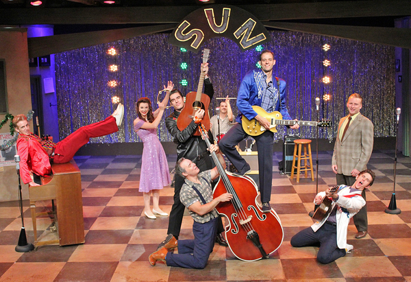 Gavin Rohrer as Jerry Lee Lewis, Emily Seibert as Dyanne, Colin Barkell as Johnny Cas Photo