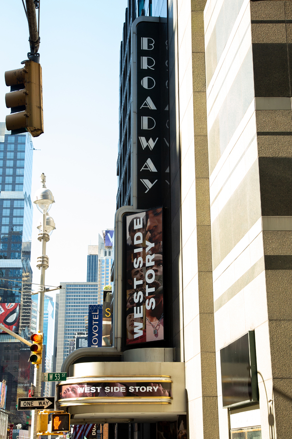 Photo Coverage: WEST SIDE STORY Marquee Goes Live on Broadway