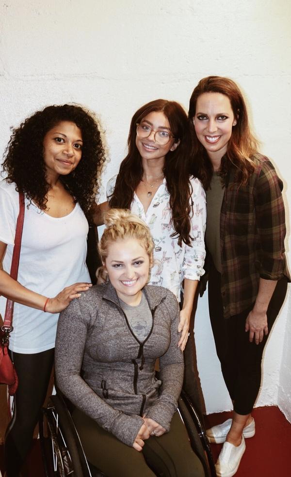 Rebecca Naomi Jones, Sarah Hyland, Mallory Portnoy and Ali Stroker