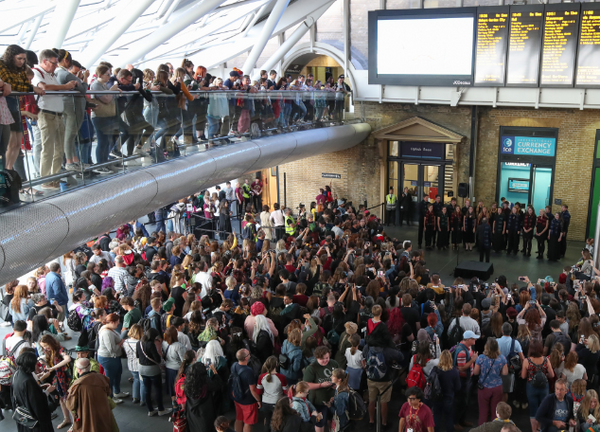 Photo Flash: HARRY POTTER AND THE CURSED CHILD Celebrates The Annual Hogwarts Express Countdown At King's Cross
