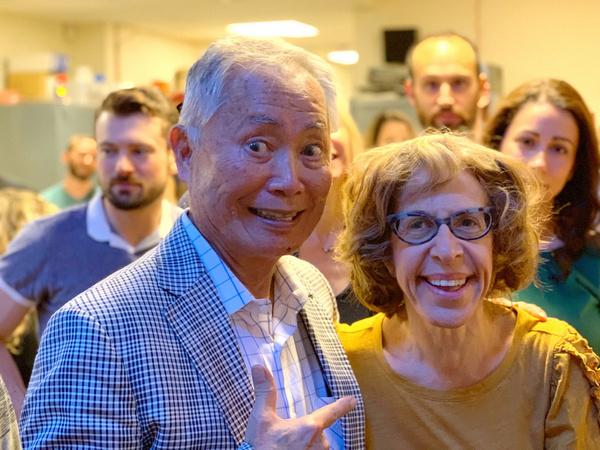 George Takei and Jackie Hoffman Photo