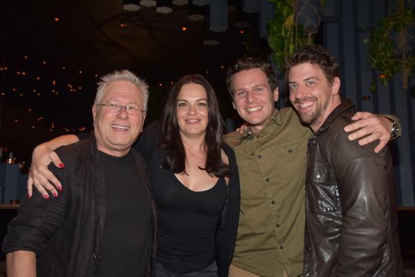 Alan Menken, Tammy Blanchard, Jonathan Groff and Christian Borle