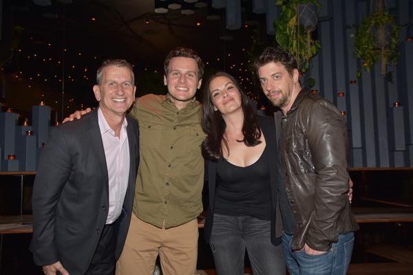 Tom Kirdahy, Jonathan Groff, Tammy Blanchard and Christian Borle
