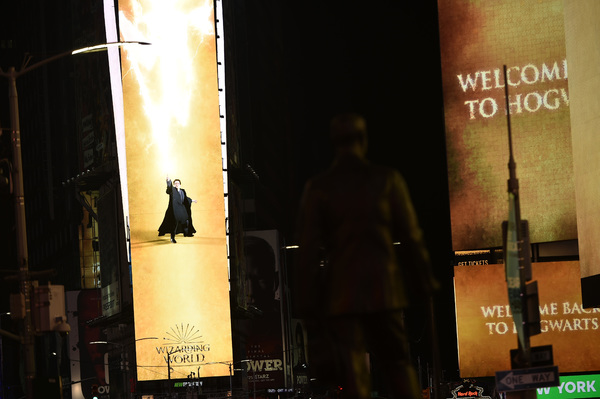 Photos/Video: HARRY POTTER AND THE CURSED CHILD Takes Over Times Square For All New Promo