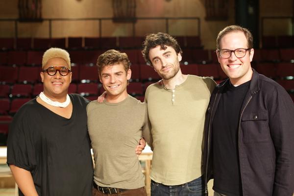 Roger Q. Mason, Garrett Clayton, Charlie Thurston, and Lavender Men director Lovell H Photo