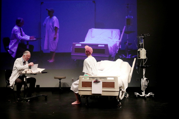 Left to Right: John William Stevens as Dr. Kelekian with Pamela Vogel as Vivian Beari Photo