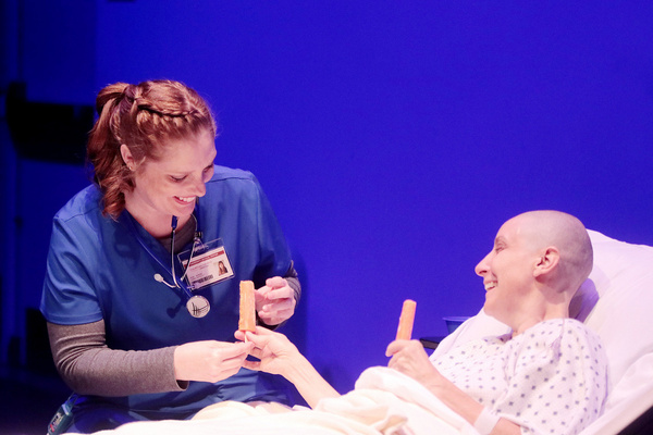 Left to Right: Tracy Ahern as Susie Monahan RN and Pamela Vogel as Vivian Bearing  Ph Photo