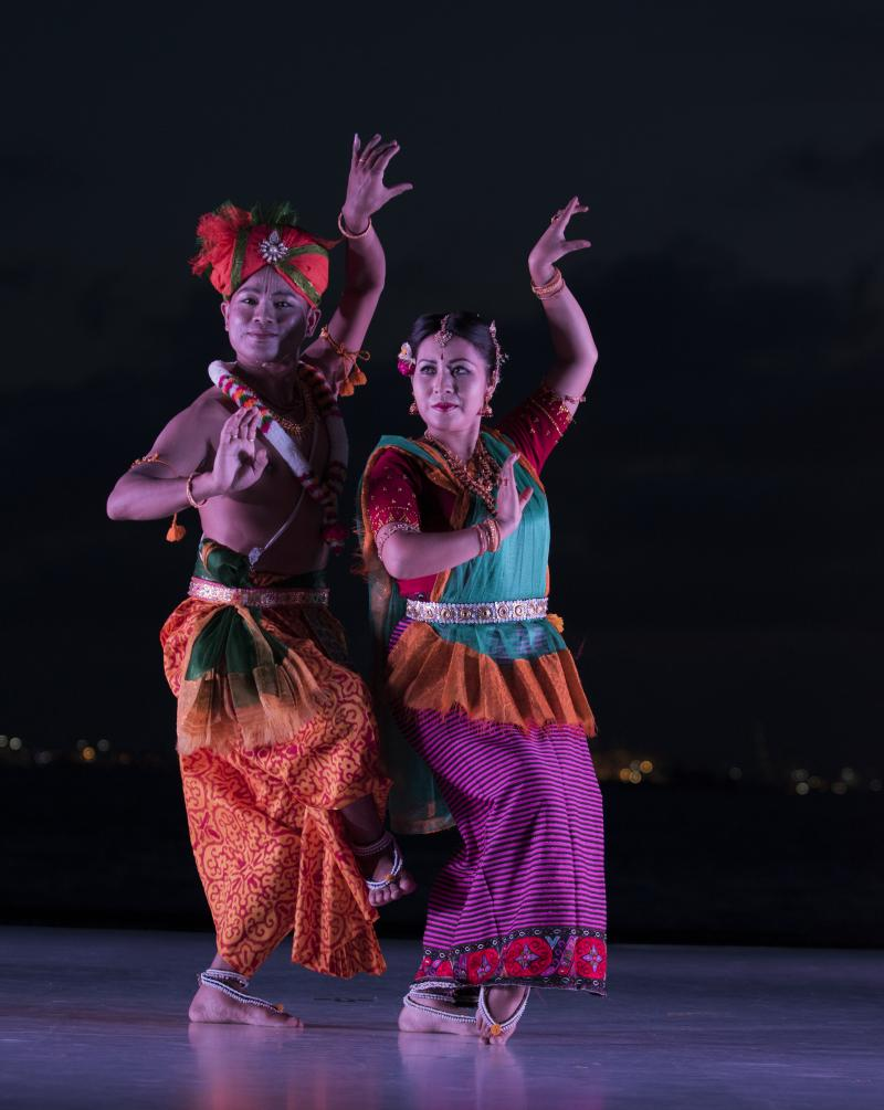 India's Independence Celebrates With Lady Liberty At Sunset For Battery Dance Festival