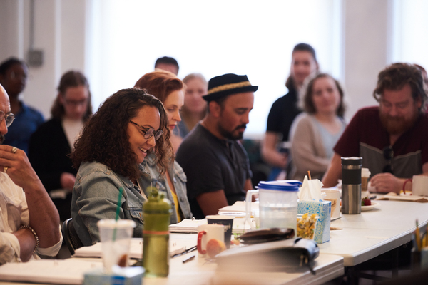 Photo Flash: Go Inside Rehearsals fore The New Group's CYRANO, with Peter Dinklage!