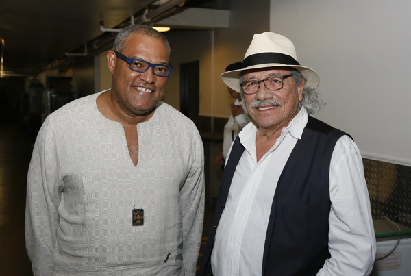Laurence Fishburne and Edward James Olmos