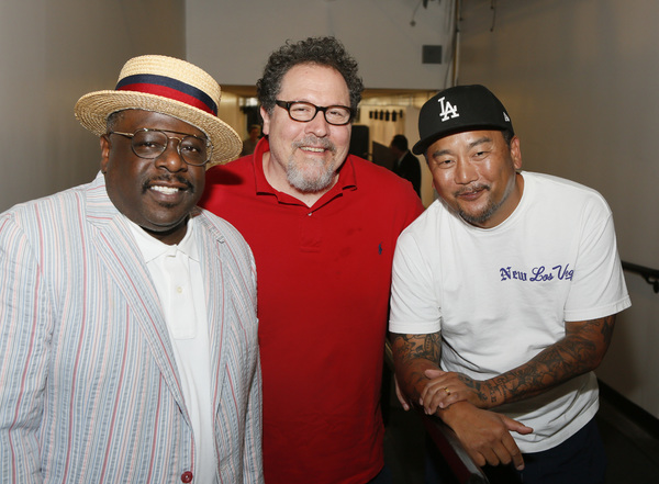 Cedric the Entertainer, Jon Favreau and Chef Roy Choi  Photo
