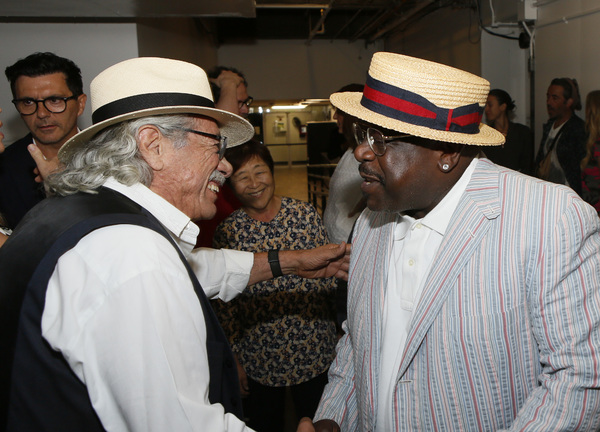 Edward James Olmos and Cedric the Entertainer backstage