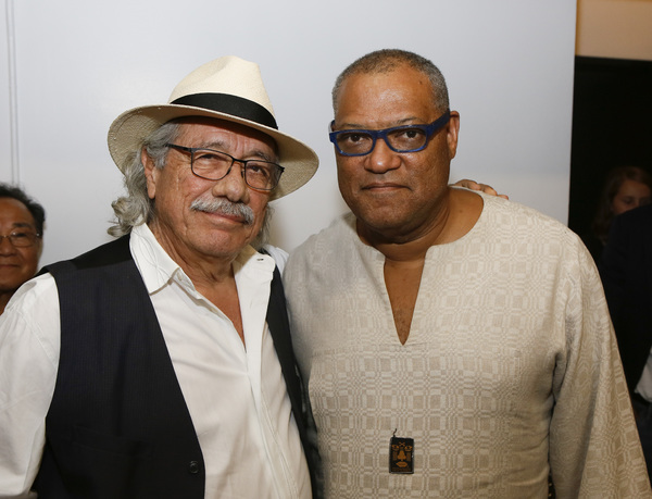 Edward James Olmos and Laurence Fishburne
