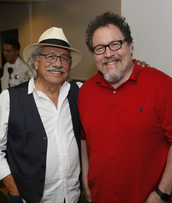 Edward James Olmos and Jon Favreau Photo