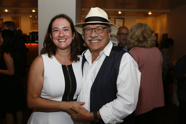 Center Theatre Group Managing Director/CEO Meghan Pressman and Edward James Olmos